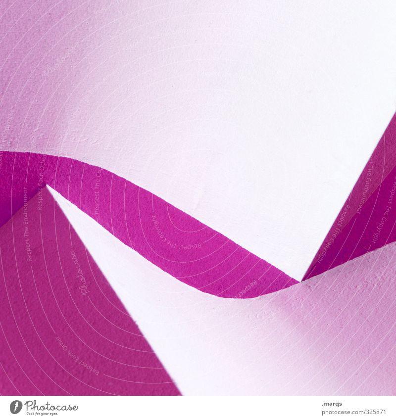 Schwung Lifestyle elegant Stil Design Innenarchitektur Architektur Linie außergewöhnlich Coolness eckig trendy einzigartig modern rund Sauberkeit violett weiß
