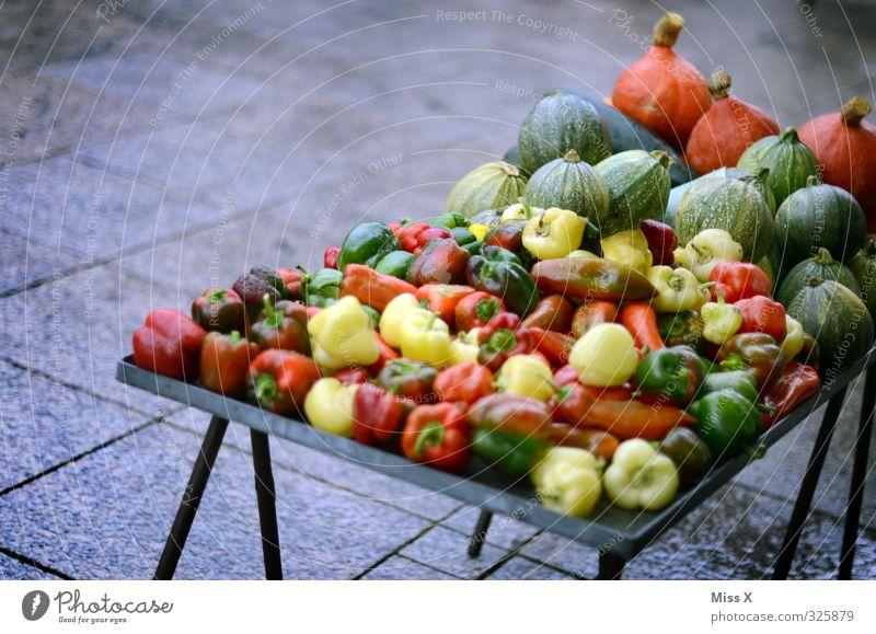 Bunt und gesund Gesunde Ernährung Gesundheit Lebensmittel frisch Ernährung kaufen Gemüse lecker Bioprodukte Markt Diät verkaufen Vegetarische Ernährung Kürbis Paprika Zutaten