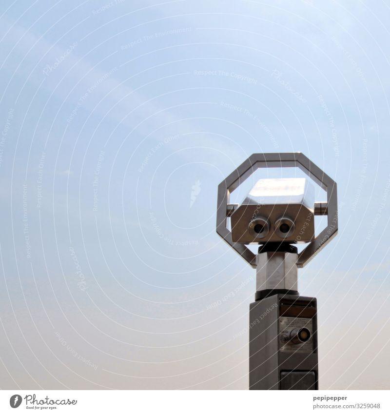 watching Freizeit & Hobby Ferien & Urlaub & Reisen Tourismus Ausflug Ferne Teleskop Fernglas Aussichtsfernrohre Gesicht Auge Himmel nur Himmel