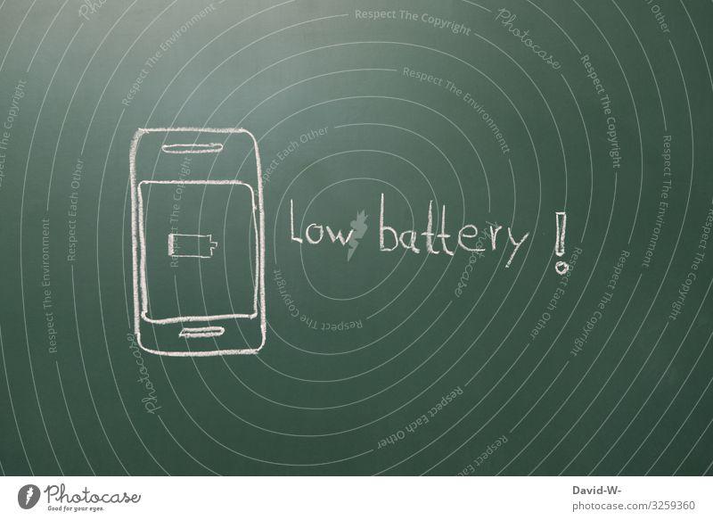 schwache Batterie Handy Akku handyakku Akku alle akku leer low Battery Hinweisschild hinweisen Achtung Problematik achtung! Technik & Technologie Entwicklung