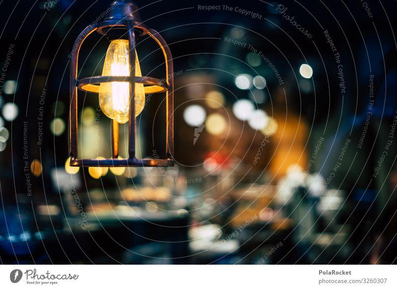 #S# Nostalgie Lampe Kunst ästhetisch Lampenschirm Lichtspiel Unschärfe Kaffee Hängelampe Glaube Hoffnung Wärme Schaufenster Beleuchtungselement Innenaufnahme