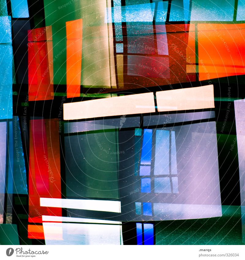 Windowlicker Farbe Fenster Stil Lifestyle Kunst außergewöhnlich Linie Design leuchten Dekoration & Verzierung elegant ästhetisch verrückt Kreativität