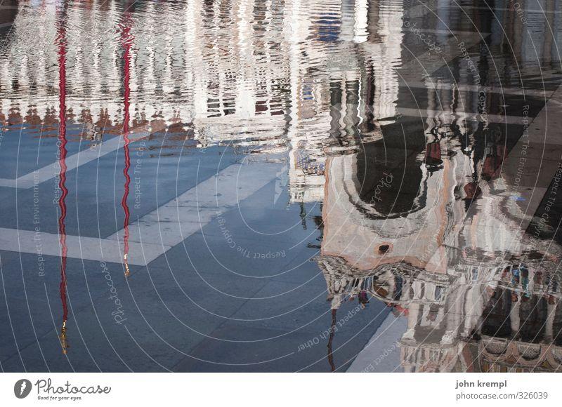 una in una laguna Wasser Venedig Italien Hafenstadt Altstadt Dom Platz Fassade Sehenswürdigkeit Wahrzeichen San Marco Basilica ästhetisch nass loyal