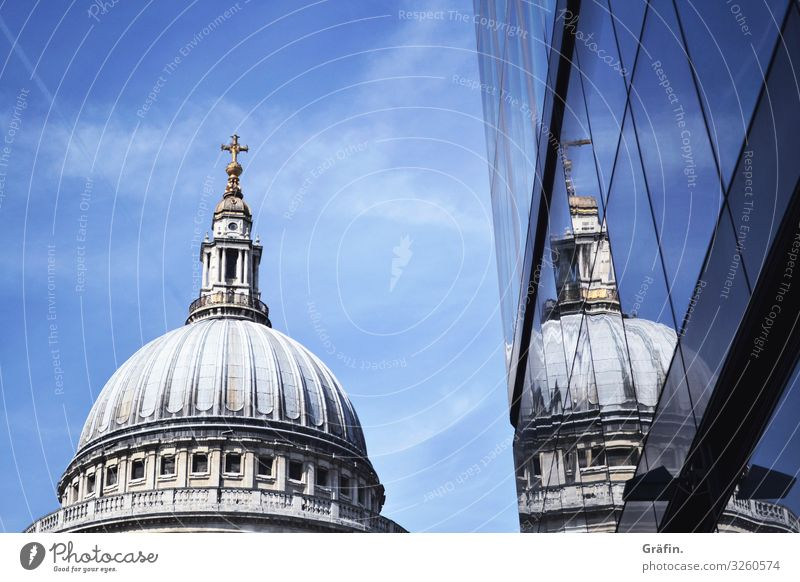 Doppelte St Pauls Cathedral Kirche Gotteshaus Sehenswürdigkeit London spiegelung Reflexion & Spiegelung Sightseeing Städtereise Architektur