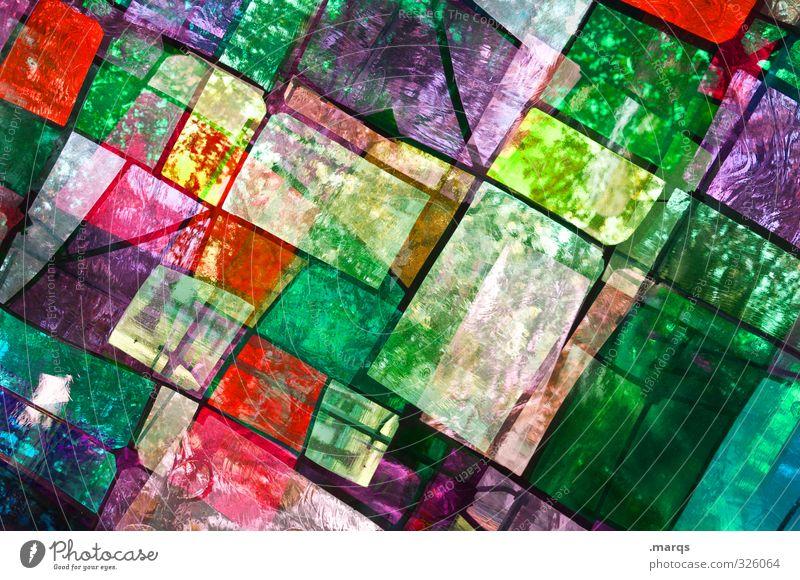 Unsortiert Lifestyle elegant Stil Design Kunst Glas Linie leuchten außergewöhnlich trendy einzigartig verrückt mehrfarbig chaotisch Farbe komplex Kirchenfenster
