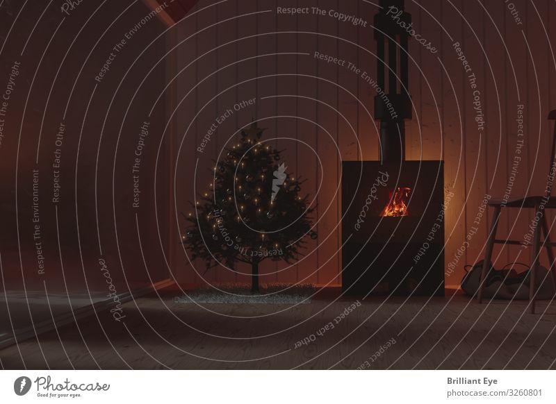 Im Dunkeln sitzen ist schön Ferien & Urlaub & Reisen Weihnachten & Advent Erholung Winter dunkel Lifestyle Holz Wärme Innenarchitektur Feste & Feiern