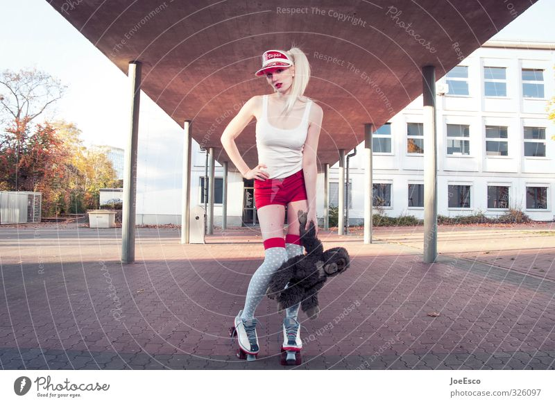 #326097 Frau schön Erwachsene Sport Stil Mode Schule Freizeit & Hobby Zufriedenheit Lifestyle wild frisch verrückt Studium Coolness einzigartig