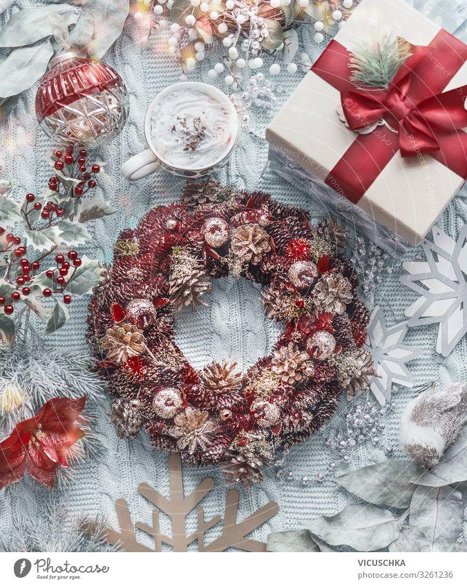 Häusliche Weihnachten Composing Stil Design Freude Winter Häusliches Leben Weihnachten & Advent Dekoration & Verzierung Schleife Ornament Tradition