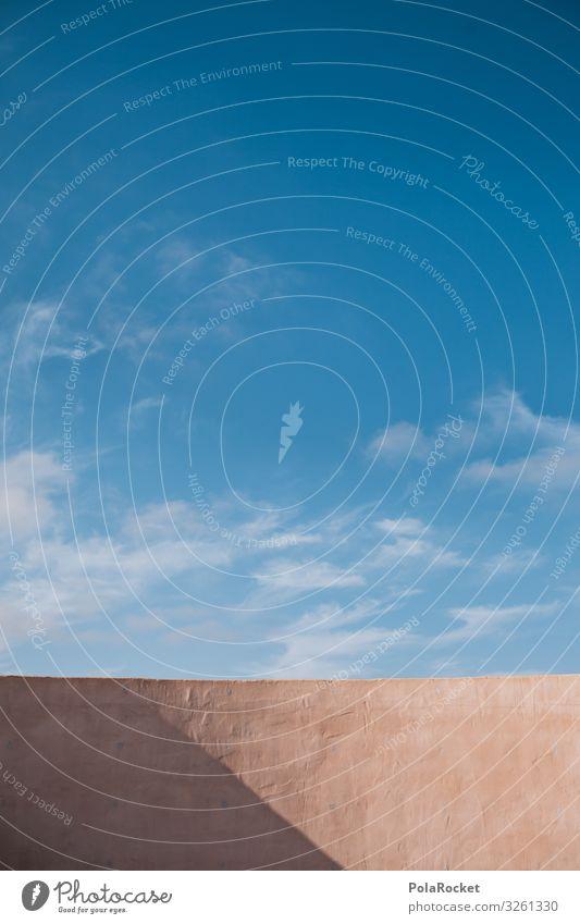 #A0# Good Day Kunst ästhetisch Himmel Sommer Sommerurlaub sommerlich Sommerferien Sommertag Schatten Schattenspiel Mauer blau Blauer Himmel Farbfoto
