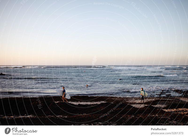 #A0# Feierabend Umwelt Landschaft ästhetisch Lifestyle Surfen Surfer Surfbrett Surfschule Fuerteventura Küste Leben Strandleben Urlaubsstimmung Farbfoto