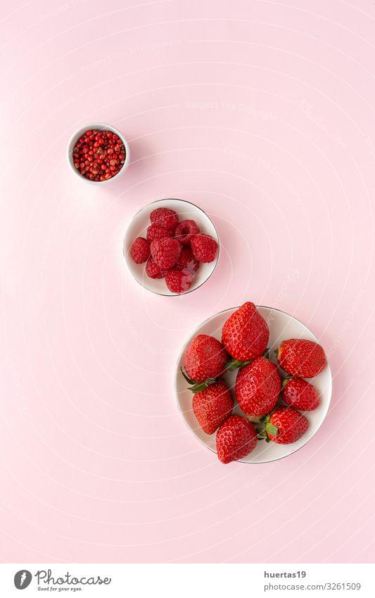 Gesunde Ernährung Farbe rot Lebensmittel Lifestyle natürlich Textfreiraum rosa Frucht frisch Aussicht Gemüse Vegetarische Ernährung Diät Vegane Ernährung