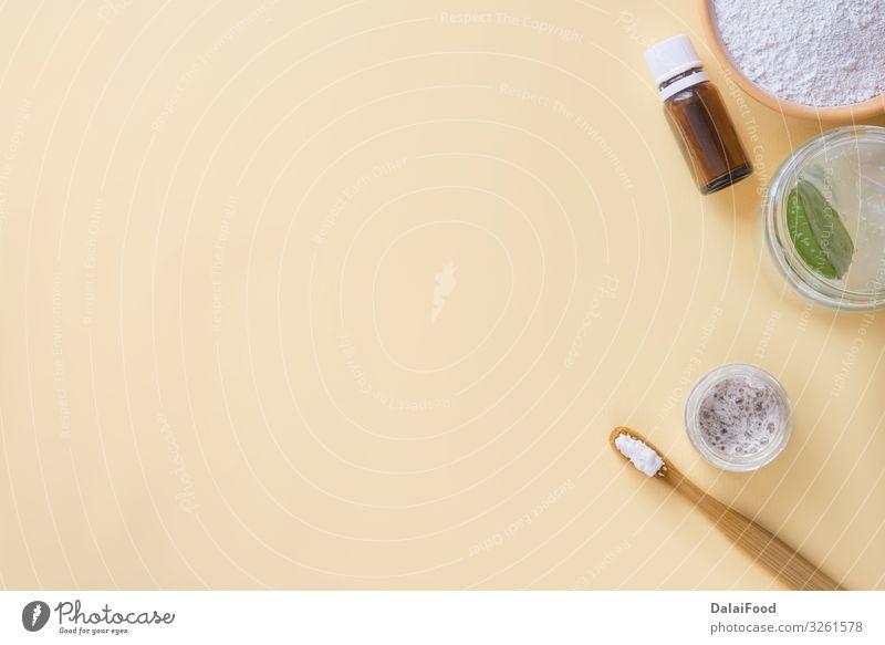 Frische Aloe Vera-Zahnpasta Gesundheitswesen Medikament Bad Mund Zähne Tube Zahnbürste Kunststoff Streifen frisch Sauberkeit blau weiß Schutz Aloe Vera Pflanze