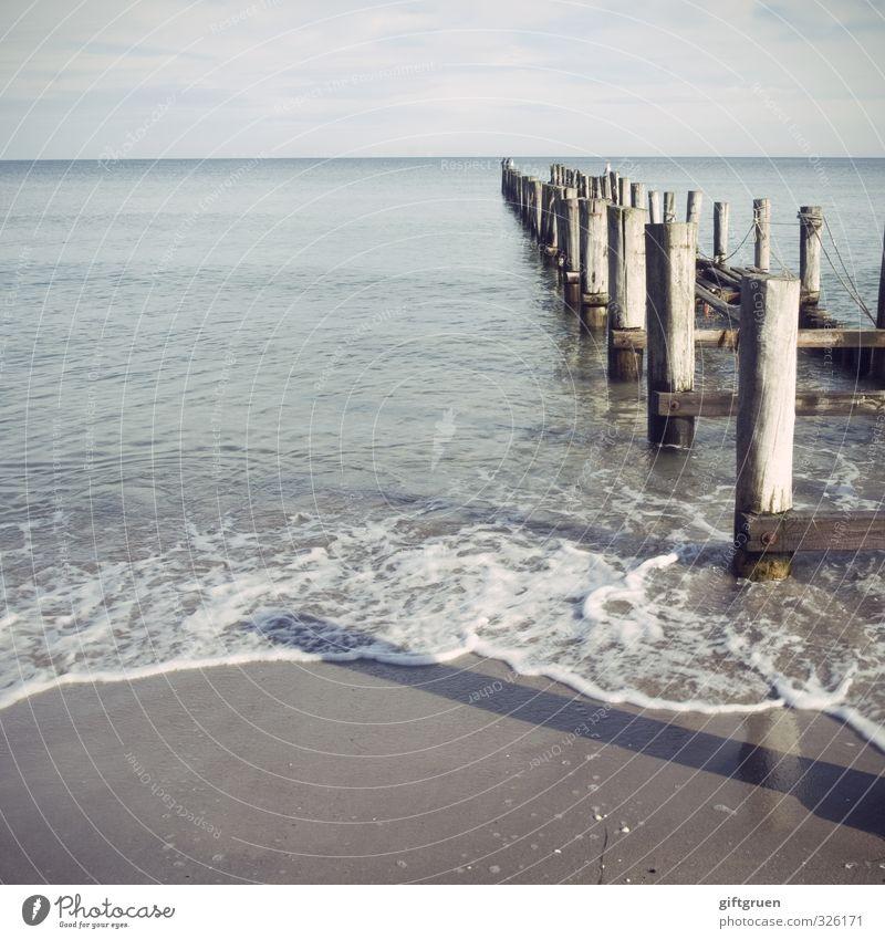 standfest Umwelt Natur Landschaft Urelemente Sand Wasser Himmel Horizont Sommer Schönes Wetter Wellen Küste Strand Ostsee Meer Schwimmen & Baden Uferbefestigung