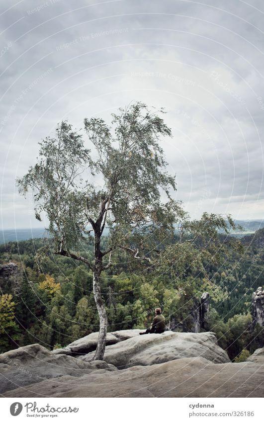 Naturverbunden Leben harmonisch Erholung ruhig Ferien & Urlaub & Reisen Tourismus Ausflug Abenteuer Ferne Freiheit Berge u. Gebirge wandern Mensch Junger Mann