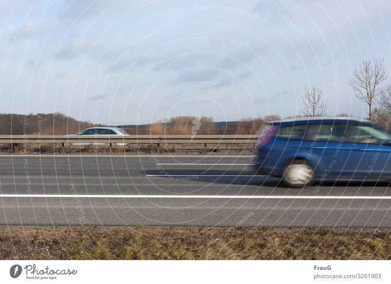 Trash| 2019 ist fast vorbei Verkehrswege Straßenverkehr Autofahren Autobahn PKW Geschwindigkeit blau grau Bewegung Ferien & Urlaub & Reisen