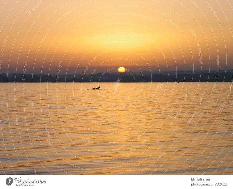 Sonnenboot 1 Wasser Sport See Rudern