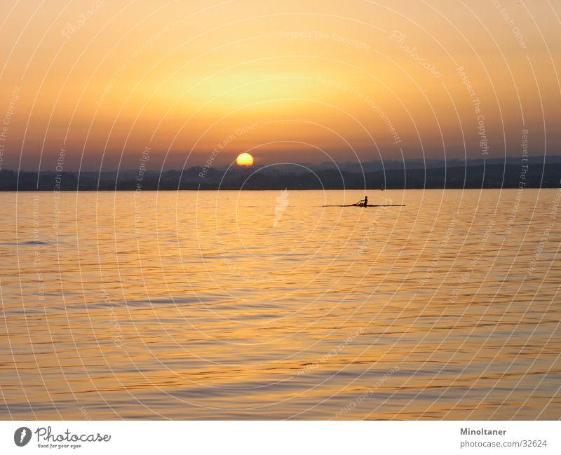 Sonnenboot 2 Wasser Sport See Rudern