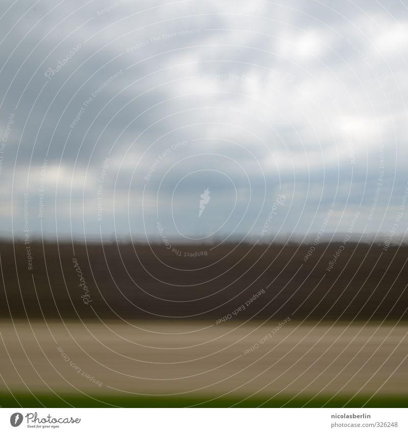 Sachsen Ferien & Urlaub & Reisen grün Wolken Umwelt kalt Wege & Pfade Wiese Bewegung braun Ausflug wandern Verkehr Feld Erde Unwetter Ackerbau
