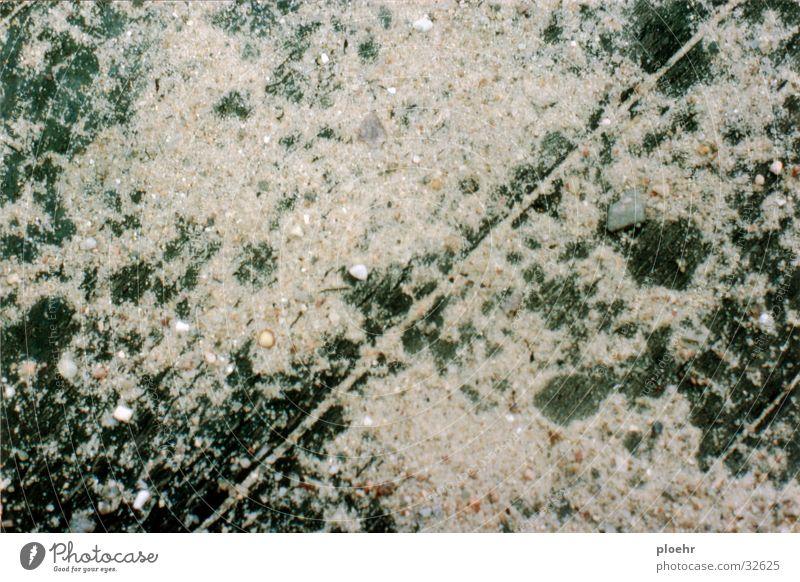SandBrett Steg Holzbrett Kieselsteine grün dunkel Handwerk Stein hell