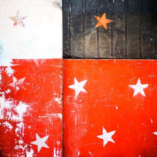 Anordnung der Sterne... Zeichen Graffiti Fröhlichkeit retro rot schwarz weiß Stern (Symbol) Sternenhimmel Weihnachten & Advent Feiertag Weihnachtsdekoration