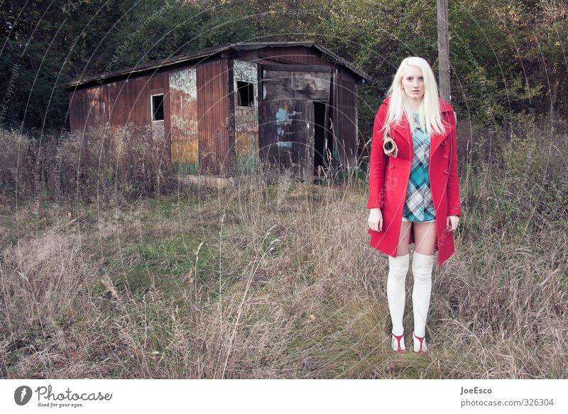 #326304 Frau Natur Ferien & Urlaub & Reisen schön Pflanze Erwachsene Gras Stil Freiheit Mode Freizeit & Hobby blond Sträucher stehen warten frisch