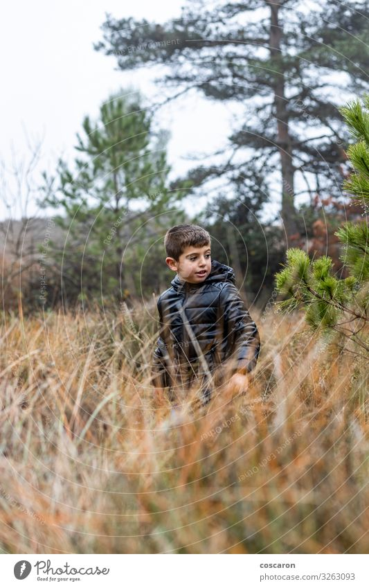 Kind Mensch Ferien & Urlaub & Reisen Natur schön grün Baum Erholung Blatt Freude Wald Winter Berge u. Gebirge schwarz Lifestyle Herbst