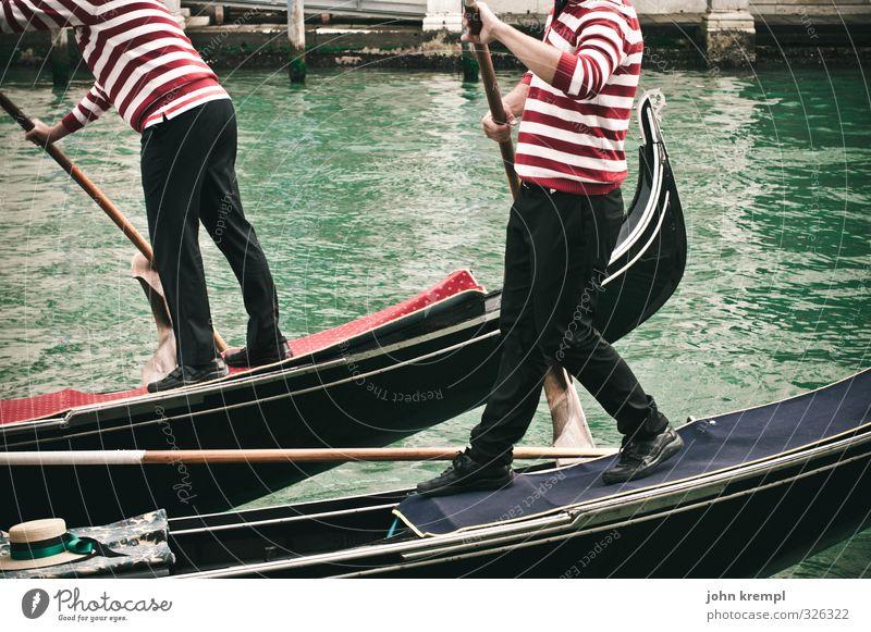 'O sole mio maskulin Mann Erwachsene 2 Mensch 45-60 Jahre Venedig Hafenstadt Stadtzentrum Verkehrsmittel Schifffahrt Bootsfahrt Passagierschiff Wasserfahrzeug