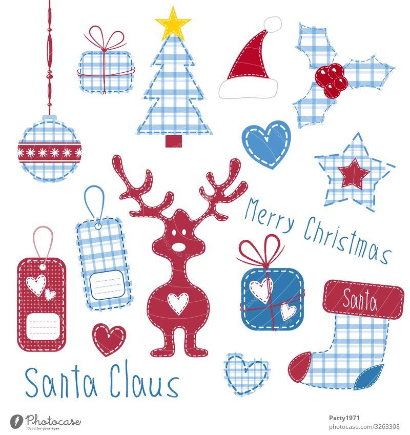 Bastelbogen für Weihnachten Lifestyle Stil Design Freizeit & Hobby Basteln Feste & Feiern Weihnachten & Advent Etikett Schmuckanhänger herzförmig Rentier