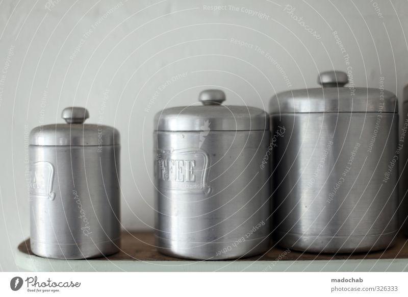 boxboxbox kalt Ordnung trist Dekoration & Verzierung Sauberkeit Küche Umzug (Wohnungswechsel) Zusammenhalt silber Container Dose Symmetrie Verpackung einrichten