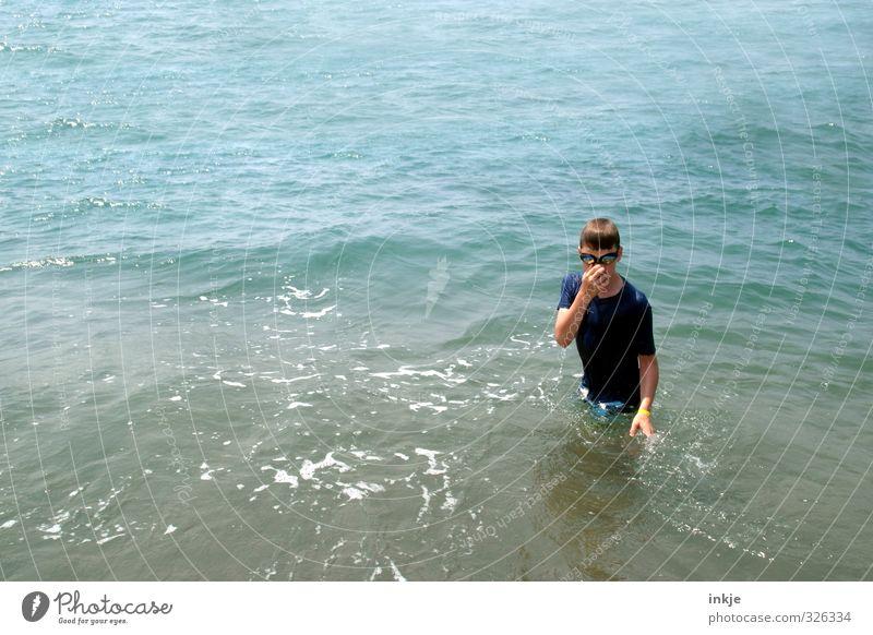 total blau (alles) Mensch Kind Jugendliche Ferien & Urlaub & Reisen Wasser Sommer Meer Freude Leben Junge Schwimmen & Baden Kindheit Freizeit & Hobby Tourismus
