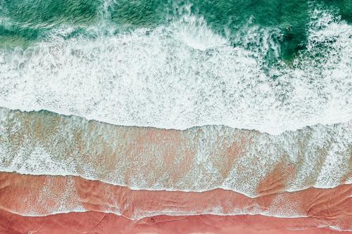 Blaue Meereswellen und wunderschönes Sandstrand in Portugal Lifestyle exotisch Ferien & Urlaub & Reisen Tourismus Freiheit Expedition Sommer Sommerurlaub Strand