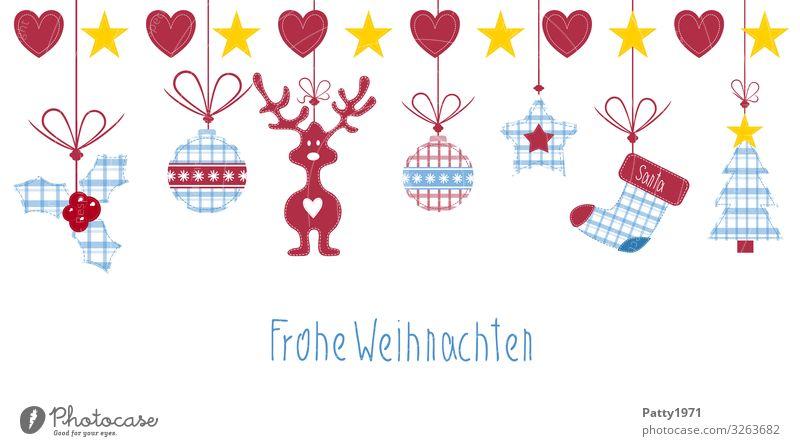 Frohe Weihnachten Dekoration & Verzierung Weihnachten & Advent Weihnachtsdekoration Sammlung Weihnachtsbaum Rentier Zeichen Schriftzeichen Herz Kugel Schnur