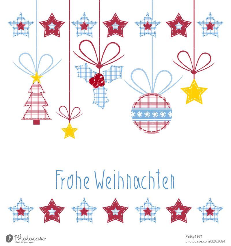 Frohen Weihnachten Dekoration & Verzierung Weihnachten & Advent Weihnachtsbaum Weihnachtsdekoration Sammlung Zeichen Schriftzeichen Herz Kugel Streifen Schnur