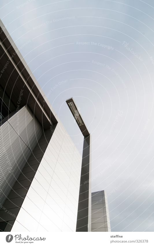 Perspektivübung Himmel Stadt Fassade modern Schönes Wetter USA Laterne