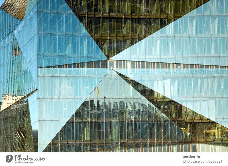 Cube Berlin Architektur Fassade Glas Glasfassade Neubau modern Reflexion & Spiegelung Spiegelbild facette Hauptstadt Regierungssitz Spreebogen