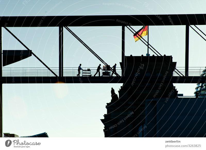 Catering im Regierungsviertel Berlin Deutscher Bundestag Deutschland Deutsche Flagge Hauptstadt Bundeskanzler Amt marie elisabeth lüders haus Parlament