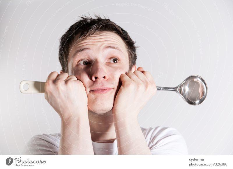 Al dente Ernährung Mittagessen Freude Gesundheit Gesunde Ernährung Mensch Junger Mann Jugendliche Leben Gesicht 1 18-30 Jahre Erwachsene Beratung Erwartung