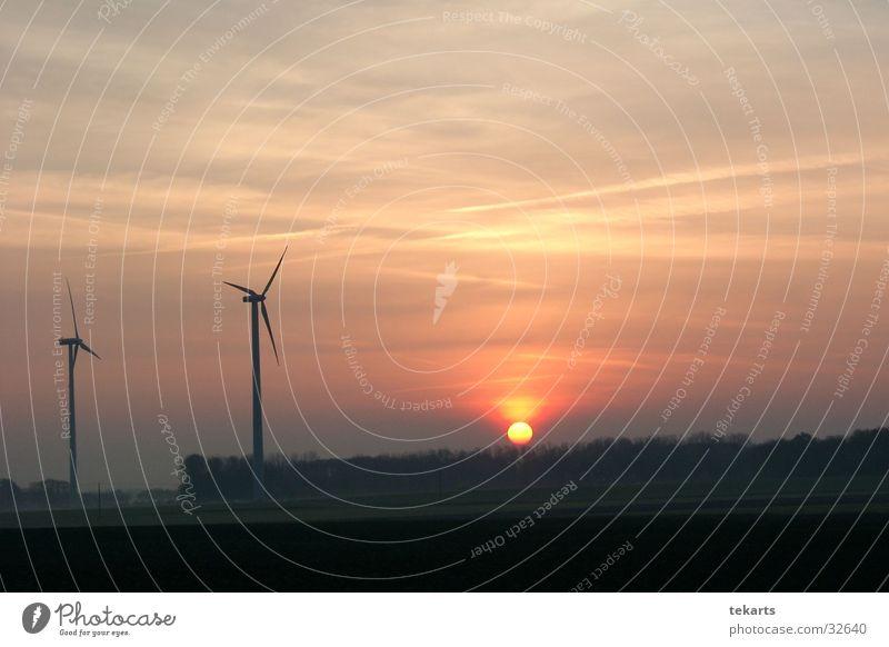 Morning Sunset Morgen schwarz Sonnenuntergang Romantik Morgendämmerung