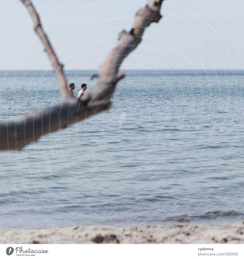Y Mensch Himmel Natur Ferien & Urlaub & Reisen Jugendliche Wasser Sommer Meer Erholung Landschaft Strand Ferne Junger Mann 18-30 Jahre Erwachsene Leben