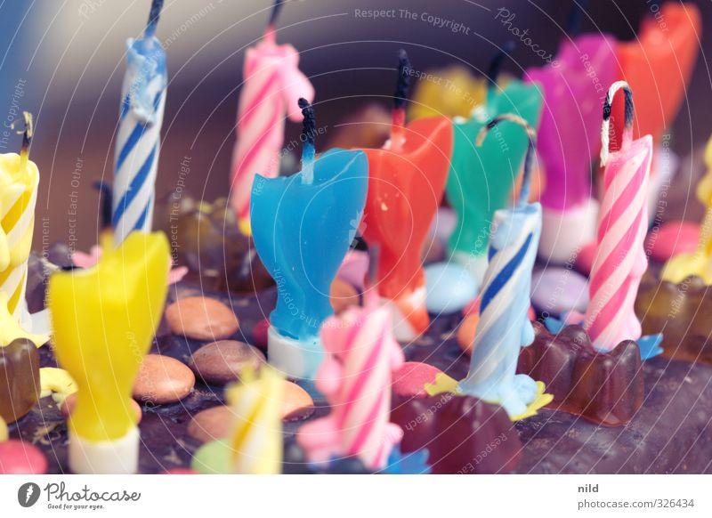 Happy Birthday Photocase Lebensmittel Kuchen Lifestyle Freude Feste & Feiern Geburtstag Kerze mehrfarbig Geburtstagstorte Glückwünsche Süßwaren süß Farbfoto
