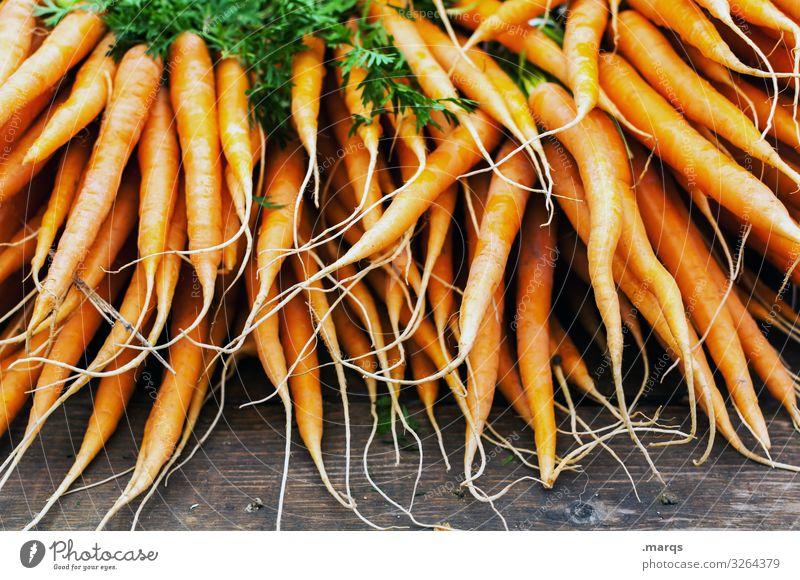 Karotte (50%) Lebensmittel Gemüse Möhre Ernährung Bioprodukte Vegetarische Ernährung Wochenmarkt frisch Gesundheit viele Farbfoto Außenaufnahme Nahaufnahme