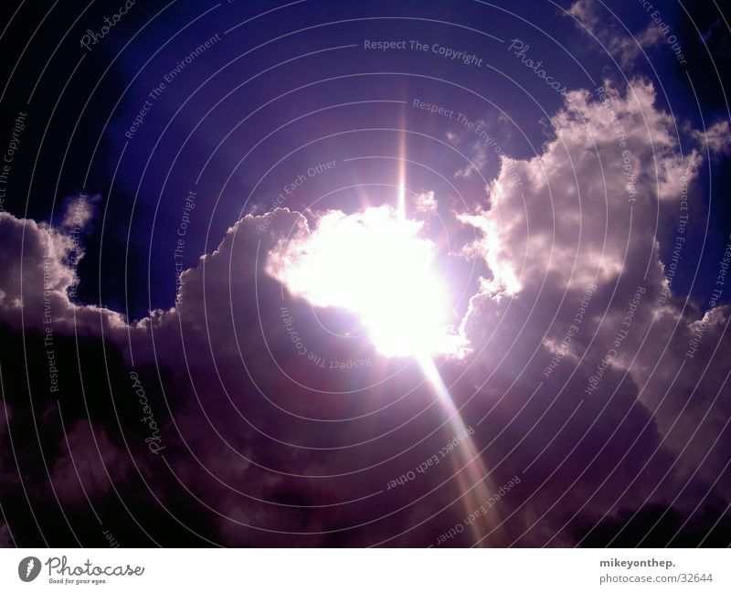 Wieder Da Himmel Sonne blau Wolken Beleuchtung leuchten