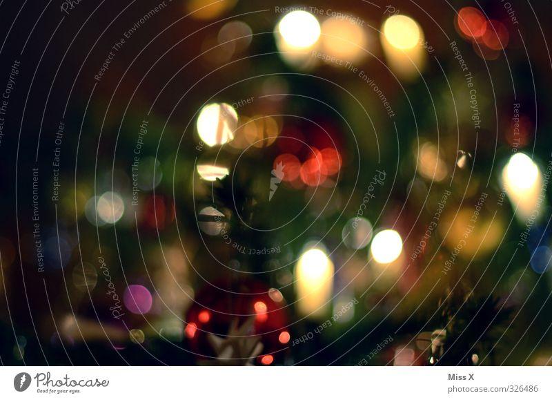 Weihnachtsunschärfe Weihnachten & Advent Feste & Feiern glänzend leuchten Dekoration & Verzierung Kerze Weihnachtsbaum Weihnachtsdekoration Baumschmuck