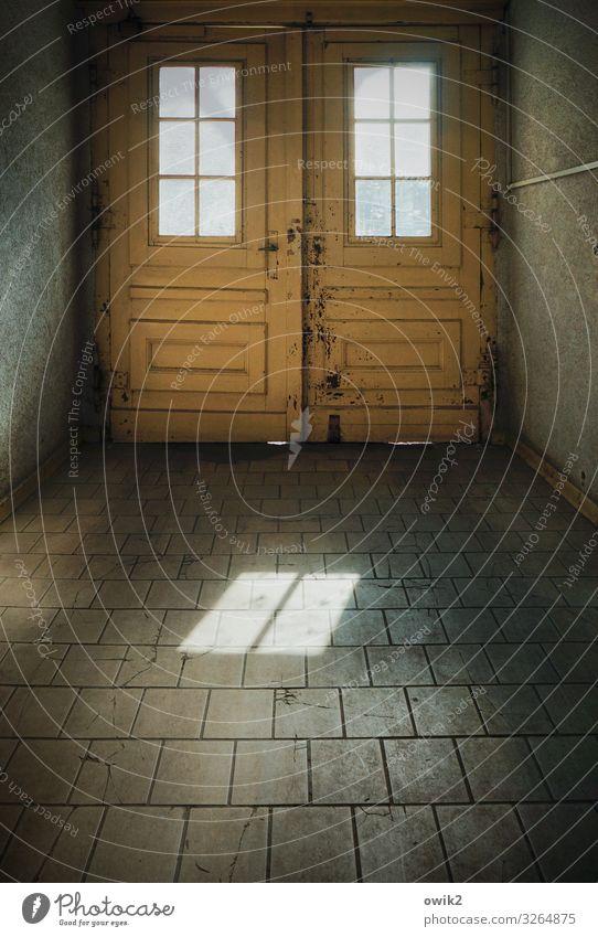 Altes Berlin Berlin-Mitte Tor Fenster Tür Toreinfahrt Pflastersteine Stein Holz Glas alt eckig einfach Farbfoto Innenaufnahme Detailaufnahme Menschenleer