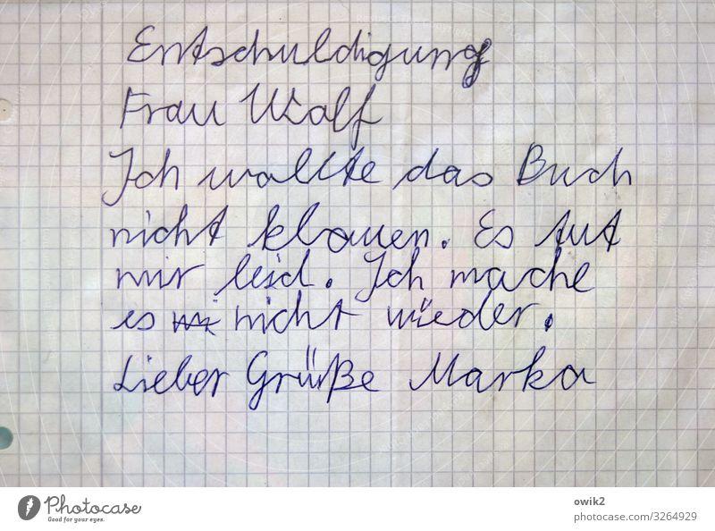 Mea Culpa Schriftzeichen Papier Information Hoffnung Mut Verzweiflung friedlich Willensstärke Nervosität Handschrift kindlich Entschuldigung Menschlichkeit