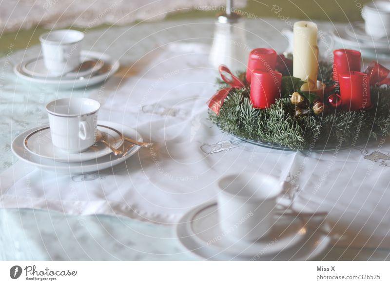 Vorfreude ;-) Weihnachten & Advent Essen Feste & Feiern Lebensmittel Ernährung Tisch Kaffee Kerze Frühstück Geschirr Teller Tischwäsche Weihnachtsdekoration