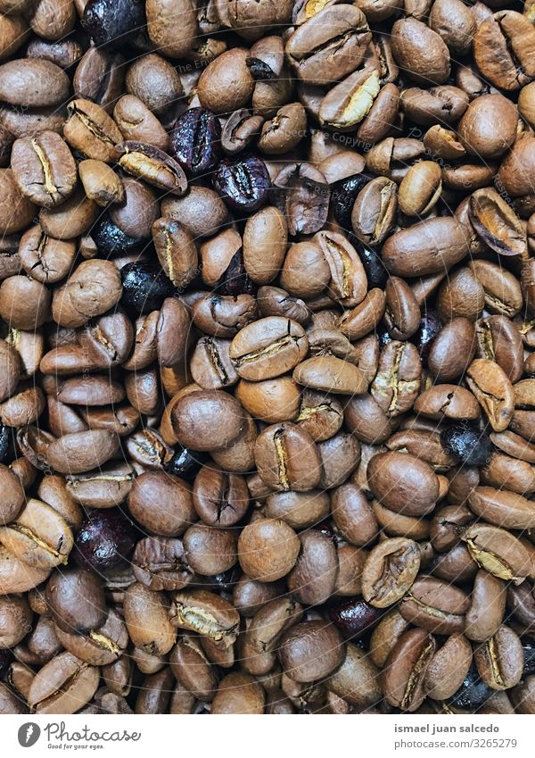 Hintergrund der gerösteten Kaffeebohnen Bohnen Hintergrundbild Konsistenz Muster gebraten braun