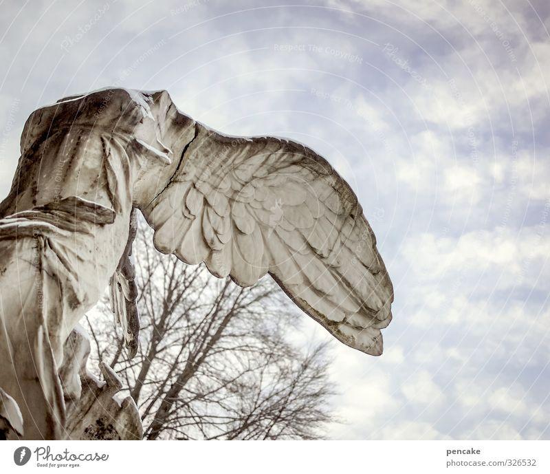 | Risiko 400 | Kunst Skulptur Kultur Urelemente Himmel Wolken Dekoration & Verzierung Stein Zeichen Engel Schloss Bekanntheit kalt kaputt stark feminin