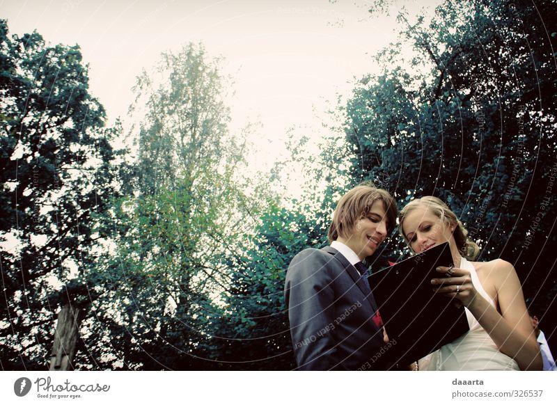 Mensch Jugendliche alt schön 18-30 Jahre Erwachsene Gefühle feminin Bewegung Glück Gesundheit träumen Paar Zusammensein maskulin glänzend