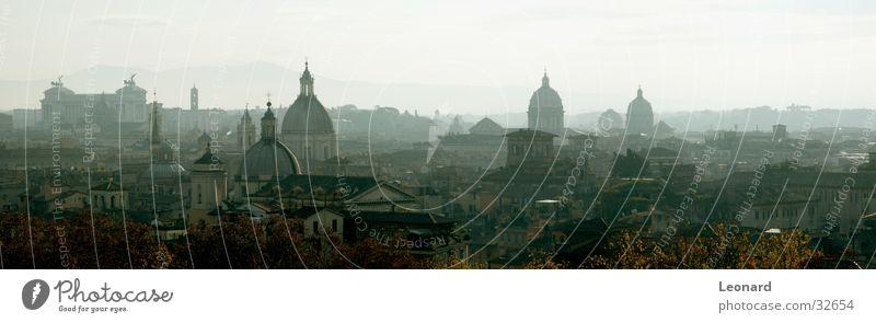 Kuppeln von Rom (Panorama) Baum Stadt Haus Herbst Berge u. Gebirge Religion & Glaube Nebel Rücken Europa Dach Italien Denkmal Skulptur Schulunterricht Bildung